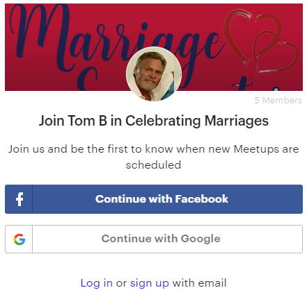 Join Tom B in Celebrating Marriages