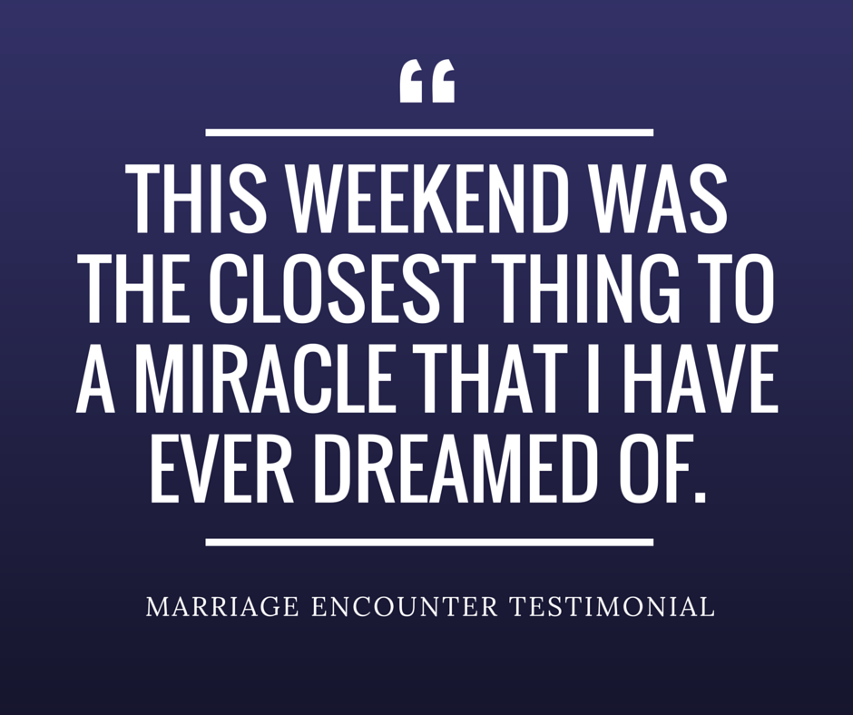 Minnesota Marriage Encounter Testimonial